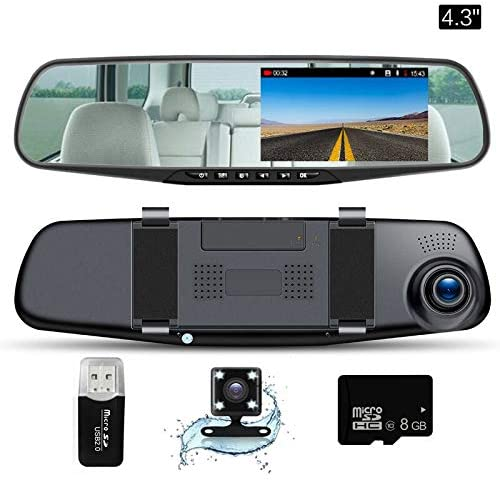 "Mirror Dash Cam 4.3""LCD Screen FHD 1080P 140°"