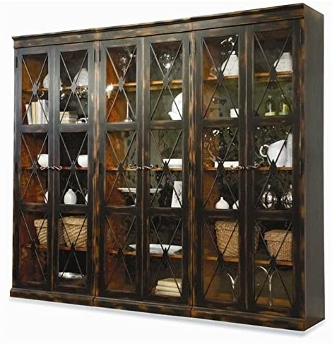 Hooker Furniture Sanctuary 3 Piece Display Cabinet Set | Wall Unit Bookcase