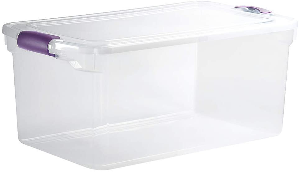 4. HOMZ 3410CLGRDC.05 Clear Storage Container with lid