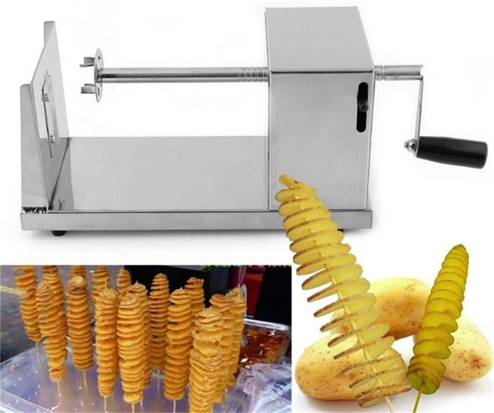 French Fries Potato Cutter, Mexidi Stainless Steel Multi-Functional   Curly Fry Cutter