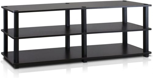 Furinno Turn-S-Tube No Tools 3-Tier Entertainment TV Stands | Long Bookshelf
