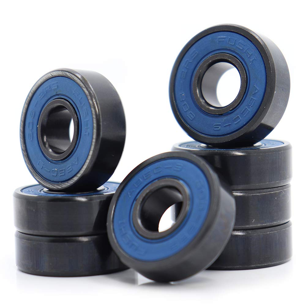 608-2RS Ball Bearing, 8x22x7mm ABEC-9 Blue Sealed