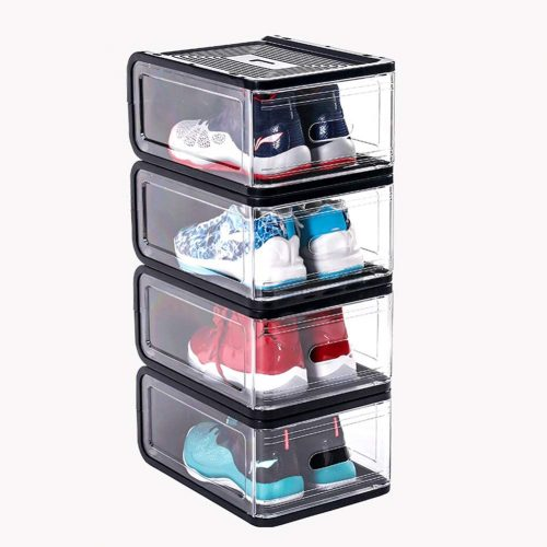 ADAHX Magnetic Side Open Transparent Plastic Storage