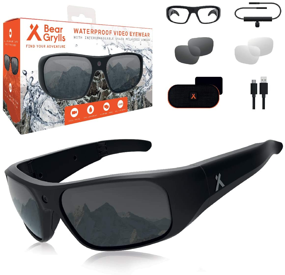 8. Bear Grylls Waterproof Action Camera Glasses