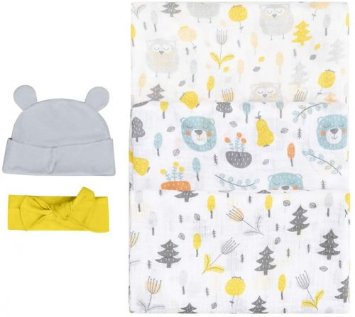 Bubzi Co Woodland Swaddle Muslin Receiving Blankets