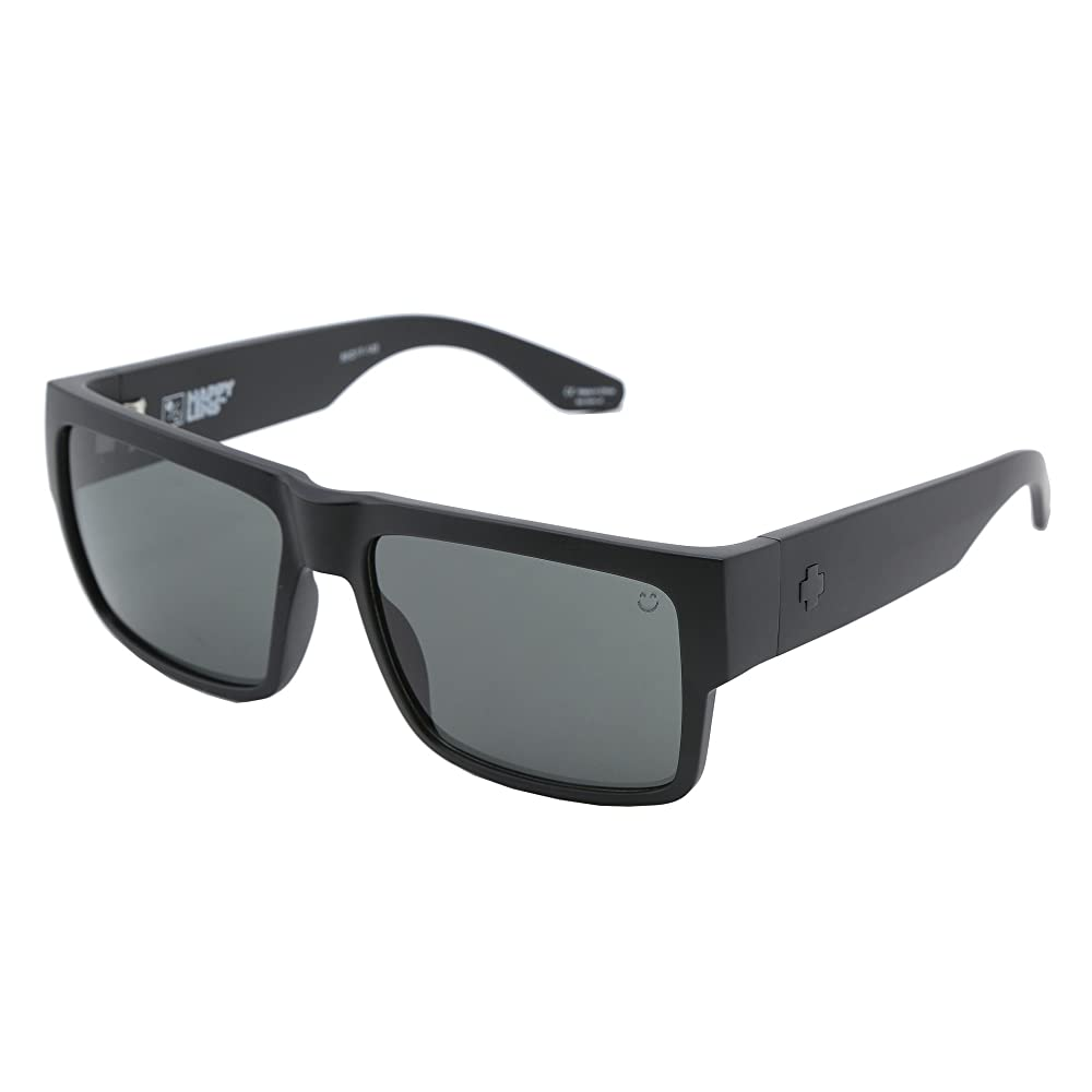 2. Spy Optic Cyrus Sunglasses Matte Black with Grey Green Lens Sticker