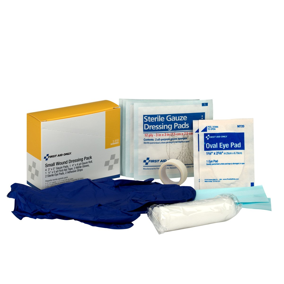 First Aid Only 3-910 8 Piece Small Wound Dressing Kit