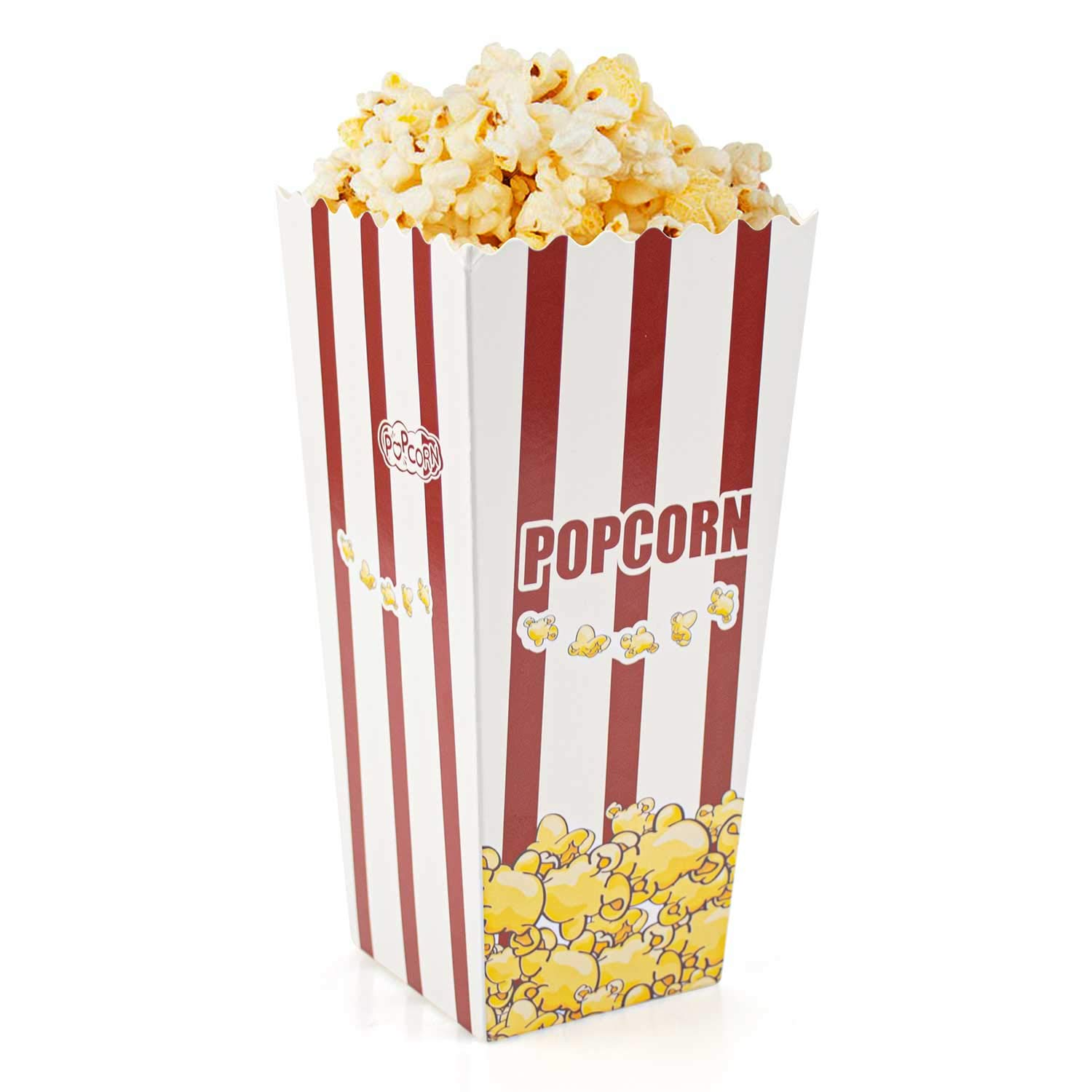 Lawei 100 Pack Open-Top Popcorn Boxes