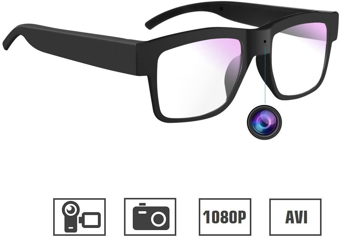 3. Camera Glasses 1080P Miata Mini Video Glasses Wearable Camera