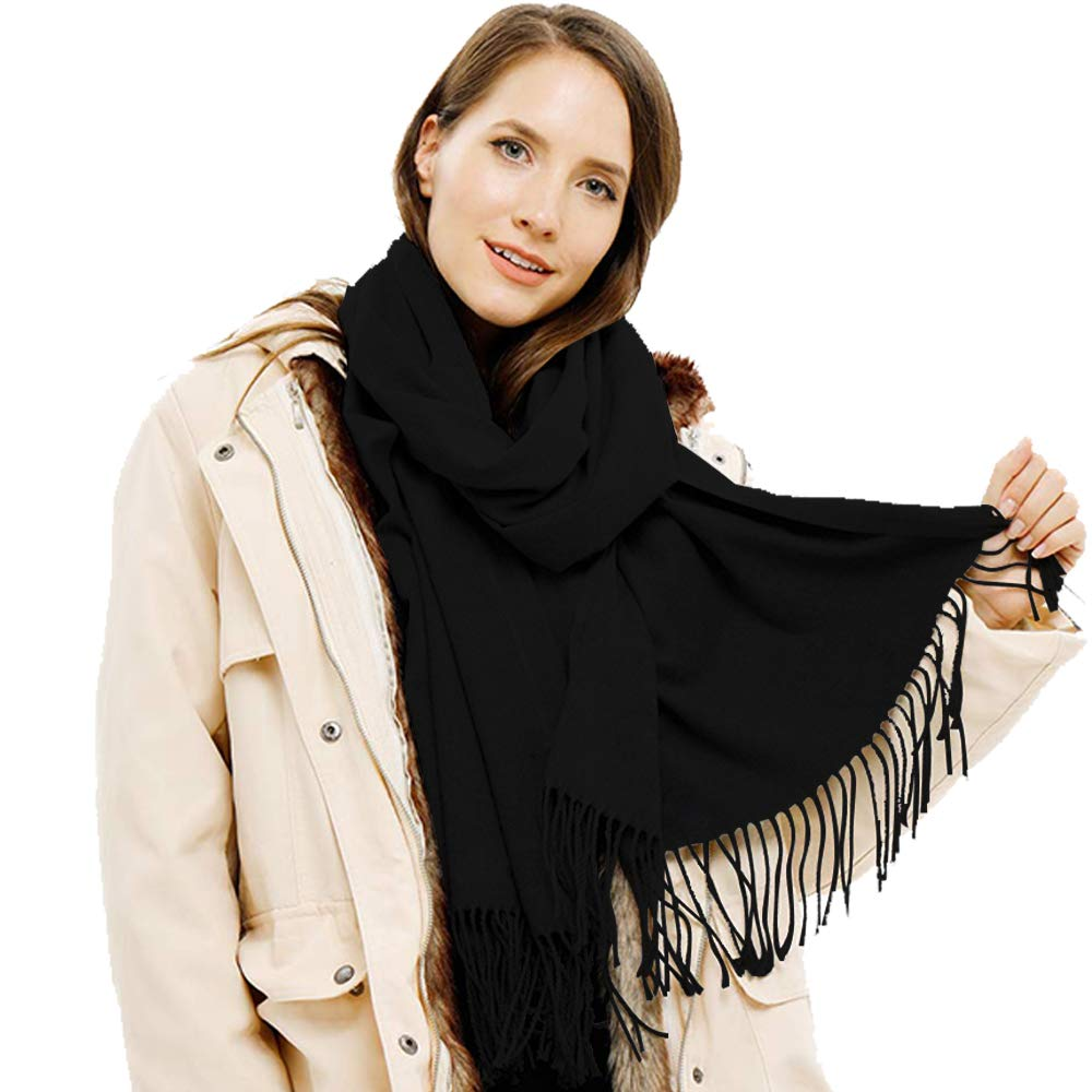 2. SUPCOOKI Large Soft Cashmere Scarf