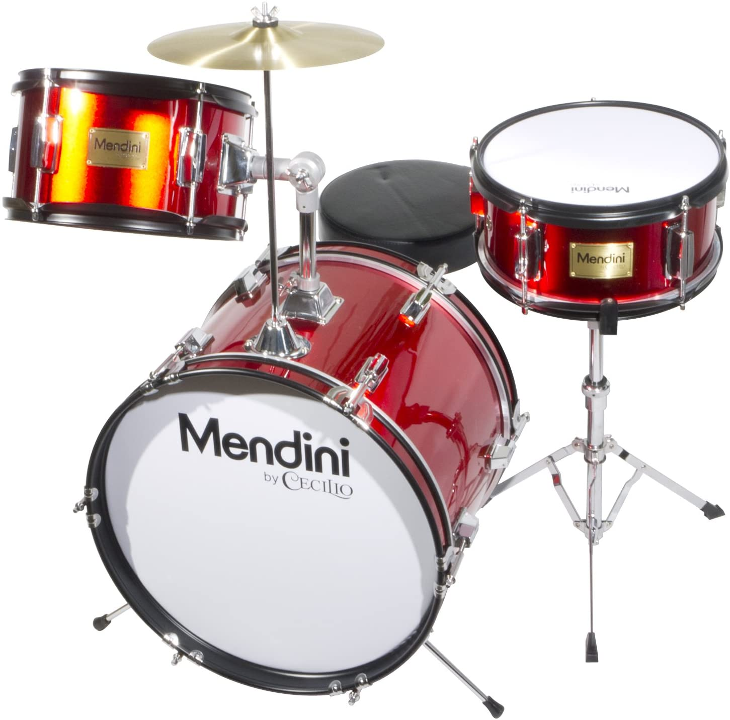 Mendini by Cecilio 16 inch 3-Piece Kids | Drums For Beginner