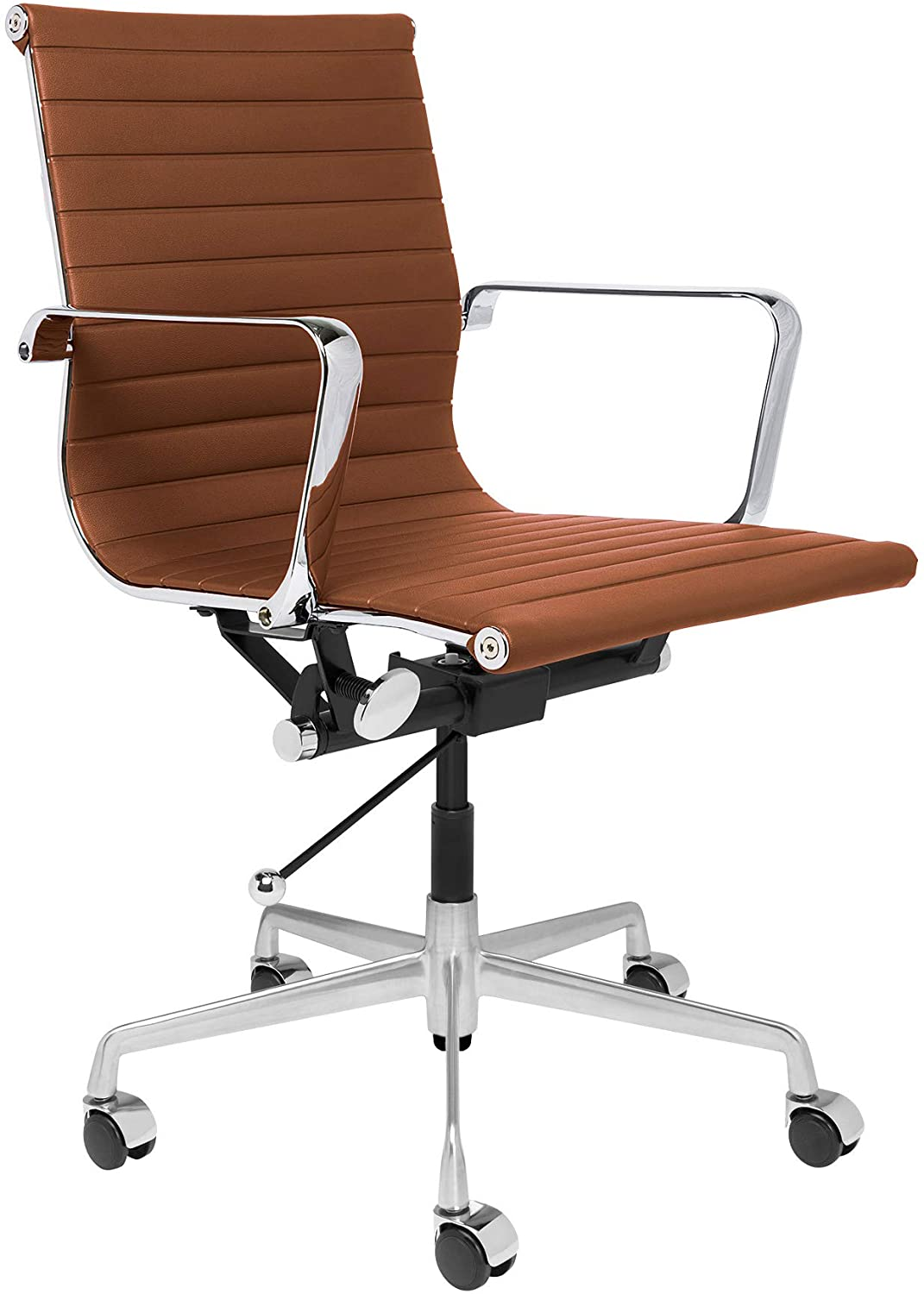 SOHO Ribbed Management Office Chair (Brown)