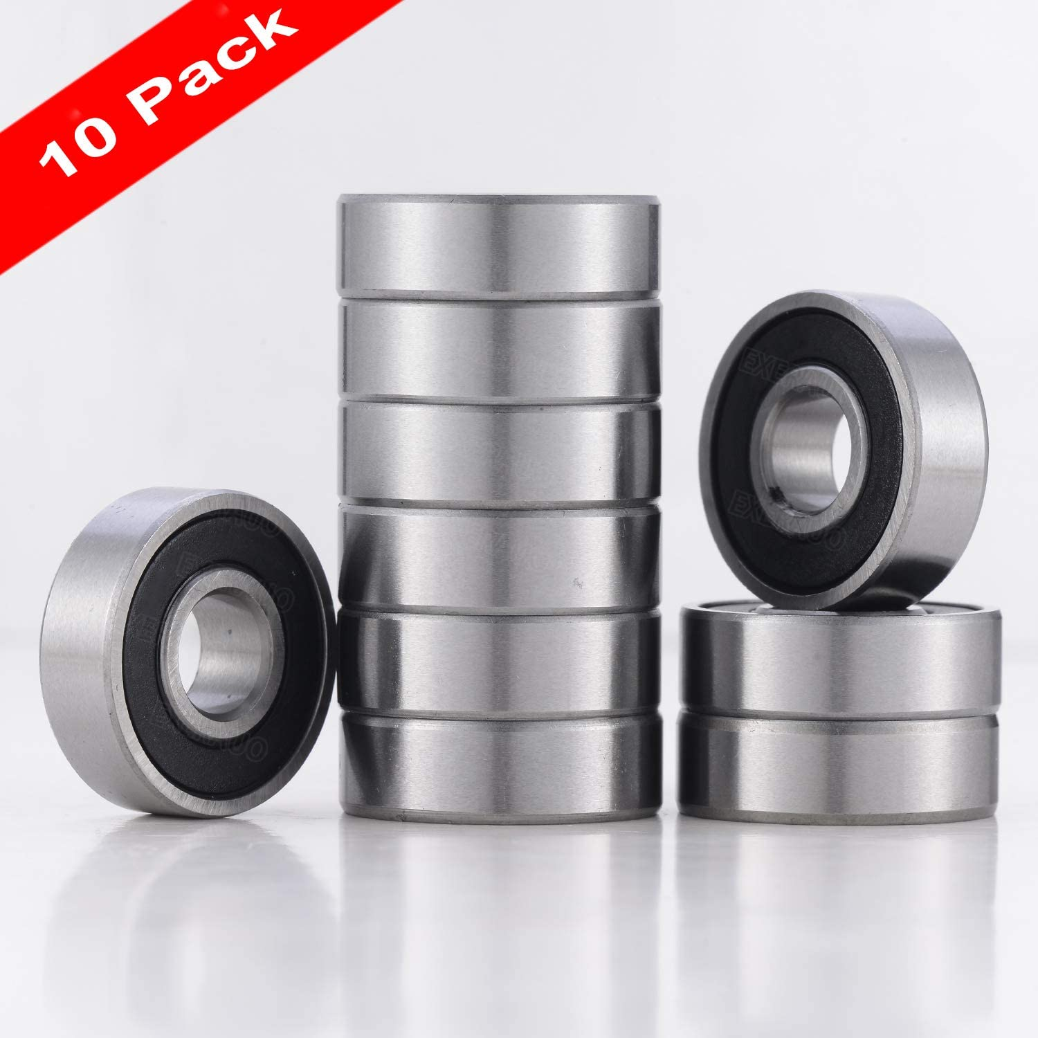 10 PACK R8-2RS BEARINGS, R8 Sealed Deep Groove