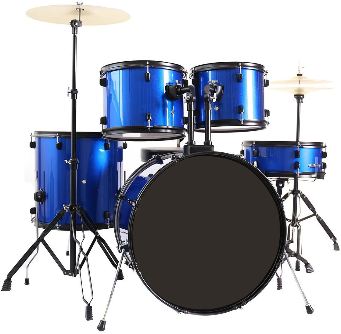 Costzon Full Size Complete Adult 5 Piece Drum Set | Drums For Beginner