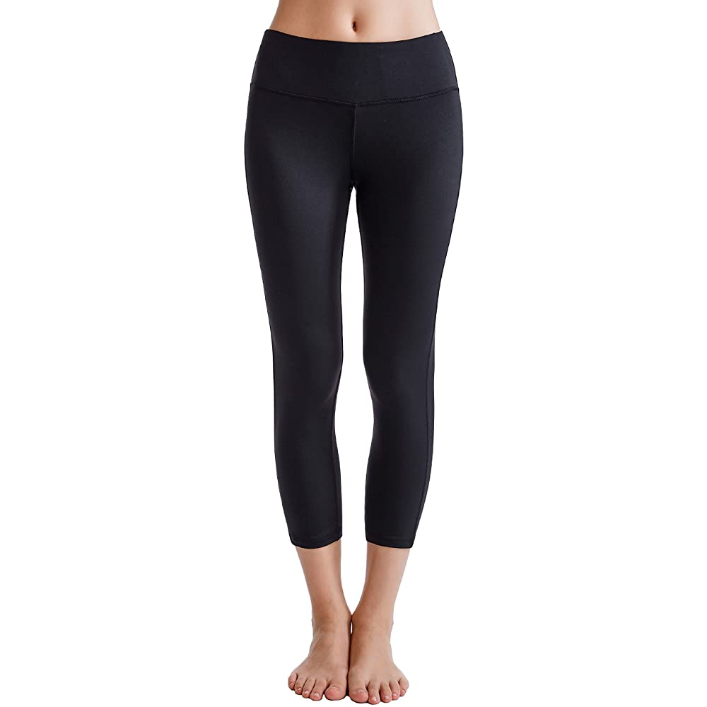 Oalka Women's Yoga Capris Running Pants | Capri Yoga Pants