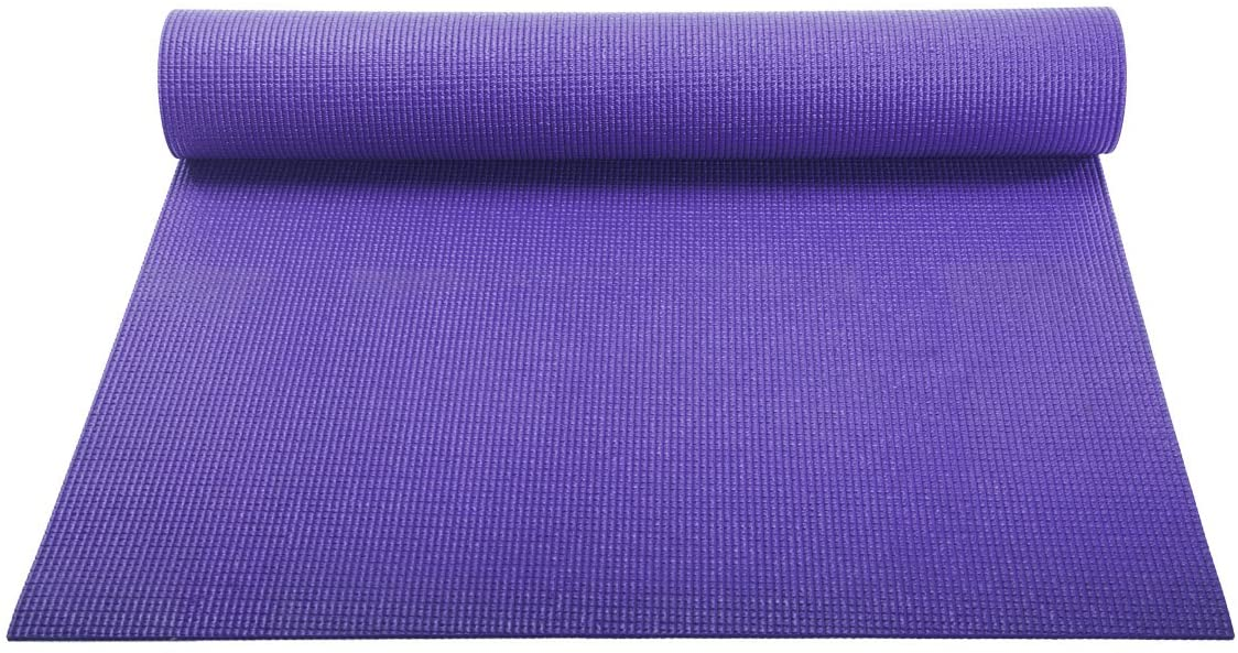 YogaAccessories 1/8'' Lightweight Classic Yoga Mat and Exercise Pad