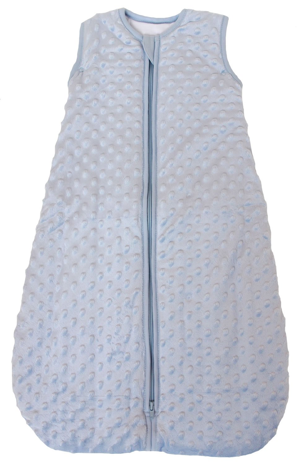 """3 . Baby Sleeping Bag""""Minky Dot"""" Blue, Quilted Winter"""