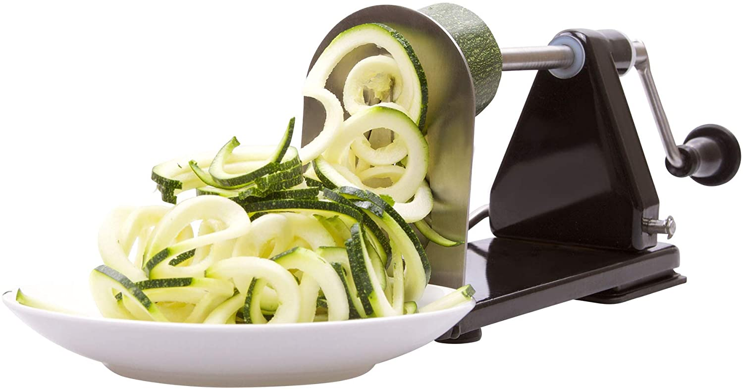 ICO 4-Blade Spiralizer Vegetable Slicer and Curly Fries Maker,  Curly Fry Cutter