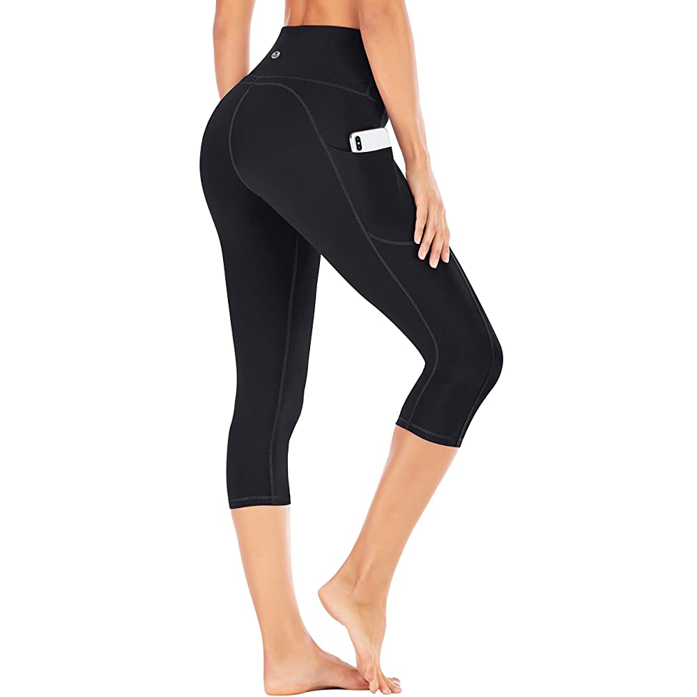 IUGA High Waist Yoga Pants with Pockets | Capri Yoga Pants