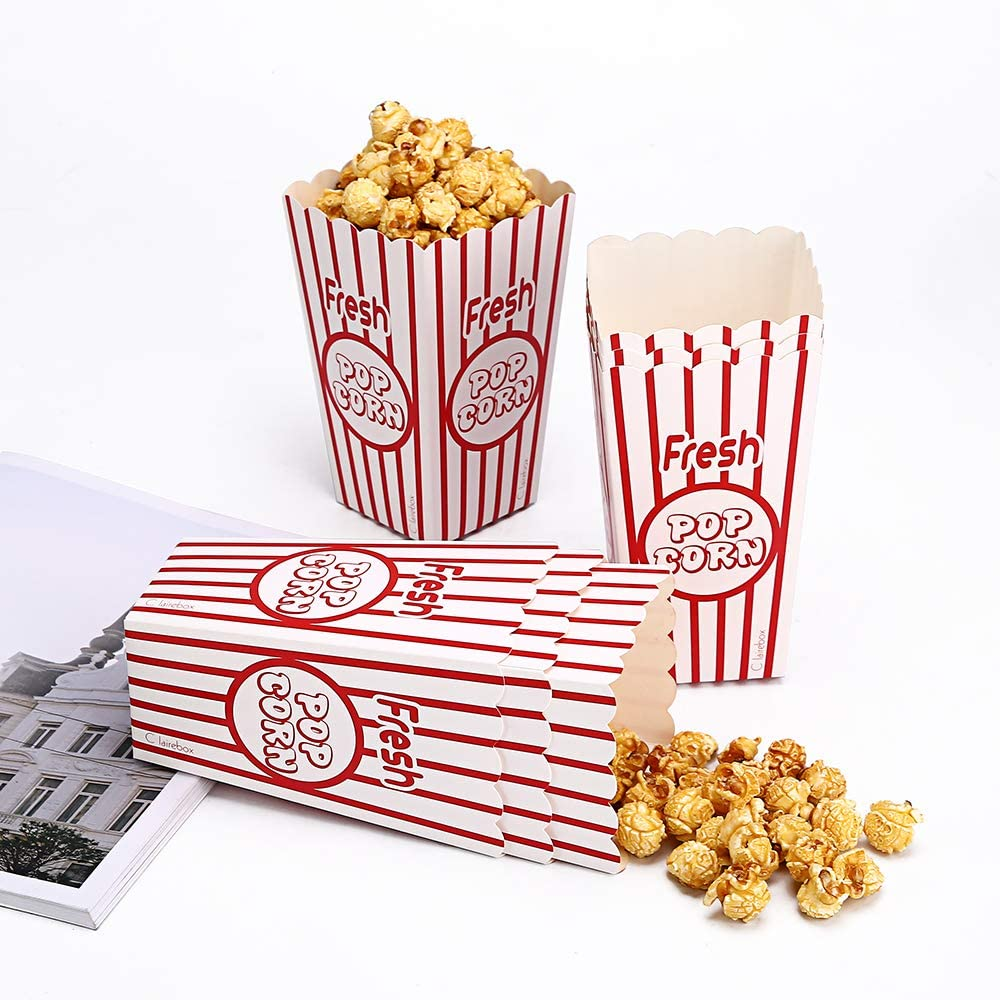 Popcorn Boxes Party Bags Food Grade