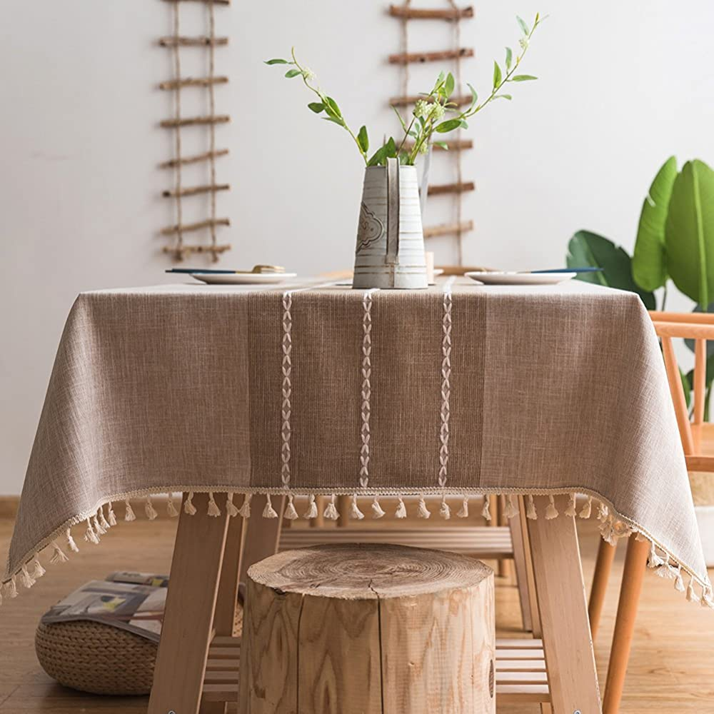 ColorBird Stitching Tassel Tablecloth | Picnic Table Clothes