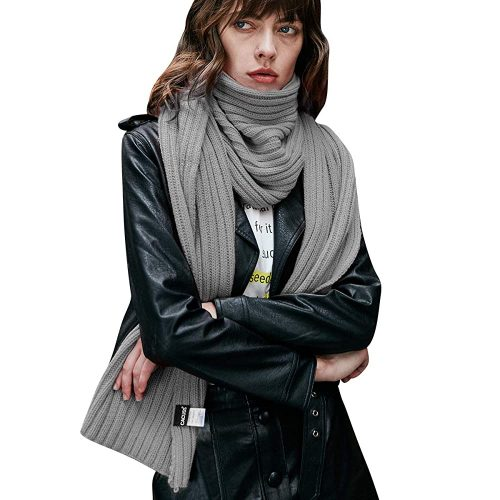 CACUSS Unisex Winter Long Thick Cable Knitted Scarf Soft