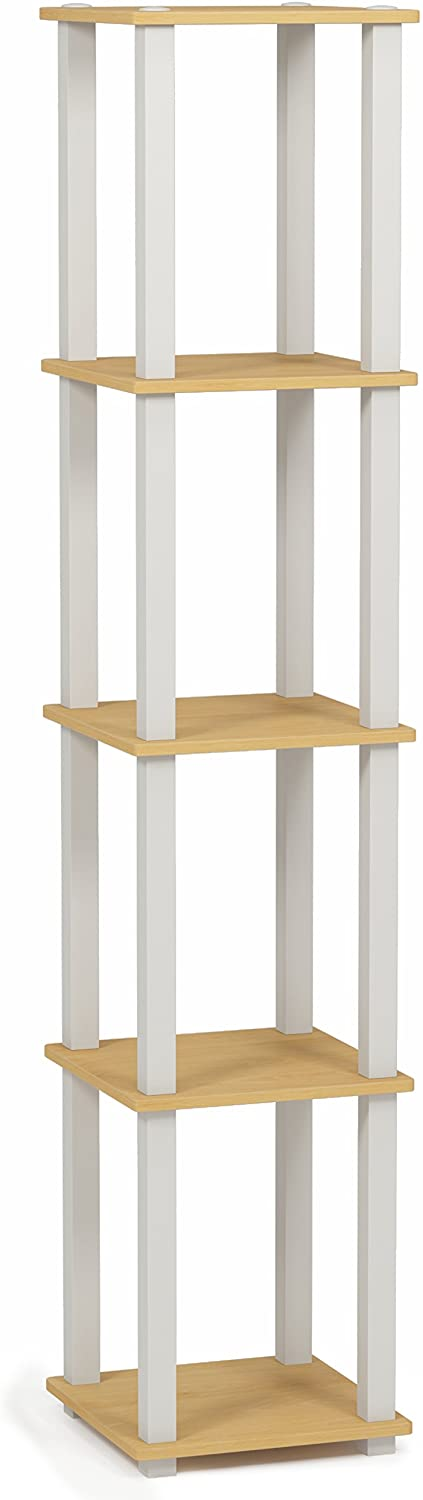 Furinno Corner Square Rack Display Shelf