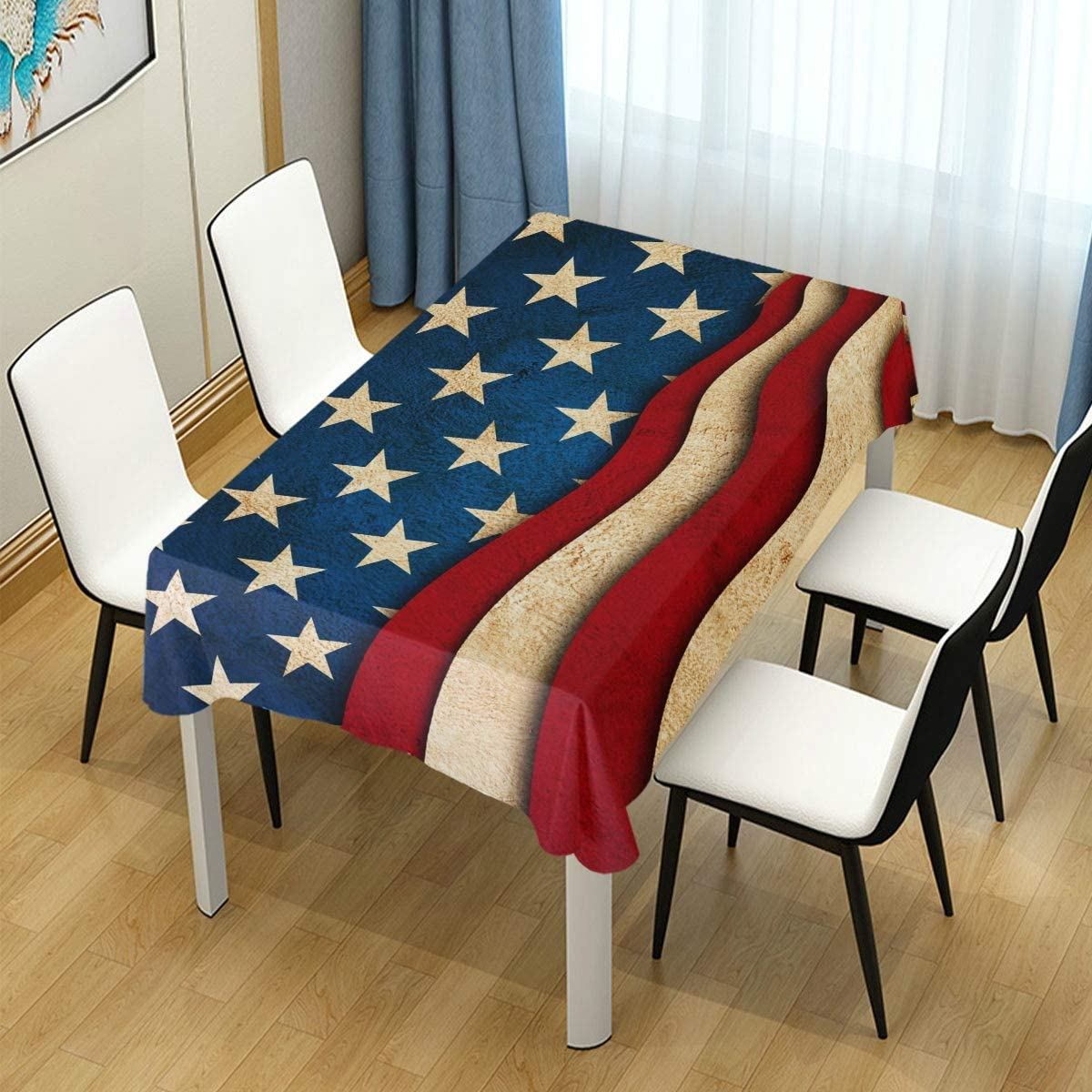 Naanle American Flag Star | Picnic Table Clothes