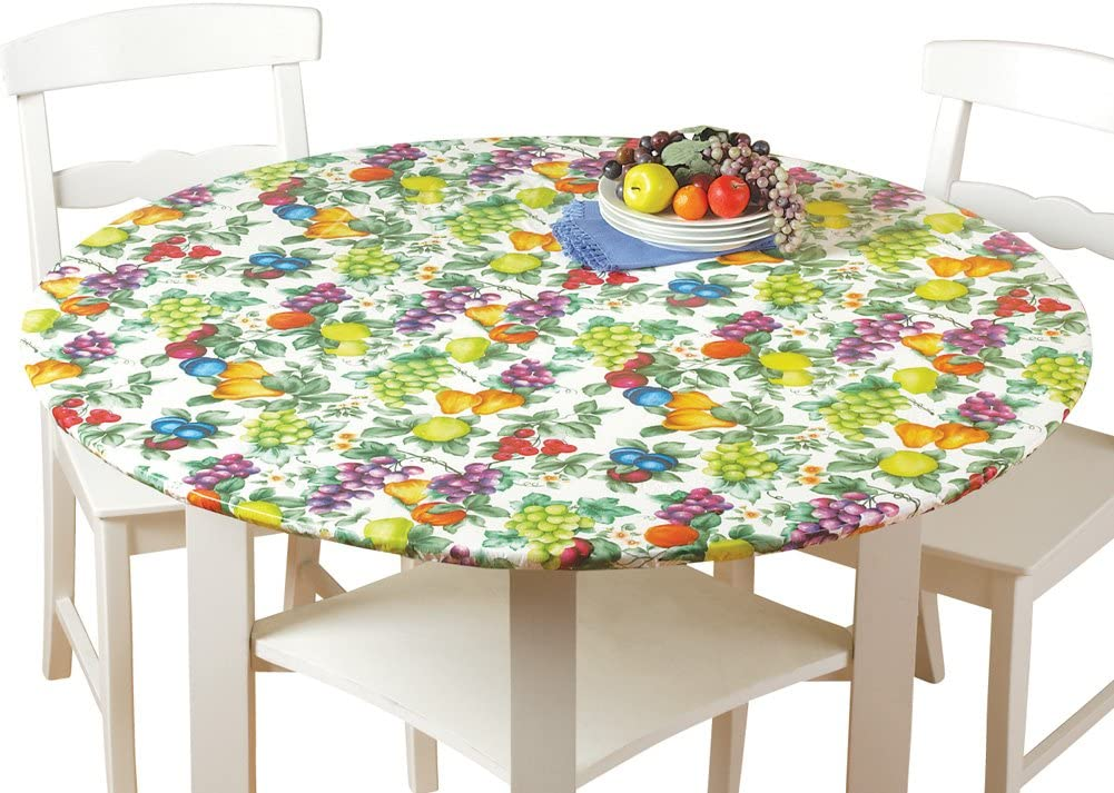 Collections Etc. Patterned Fitted Table Cover | Picnic Table Clothes