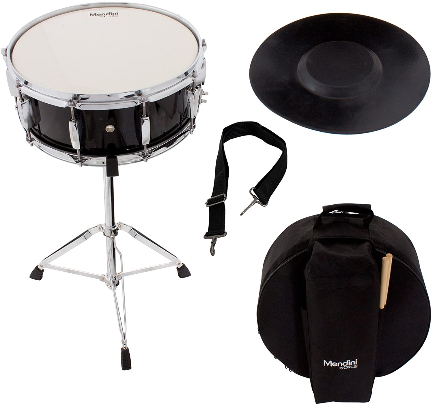 Mendini Student Snare Drum Set with Gig Bag, Sticks, Stand | Gammon Drum Sets