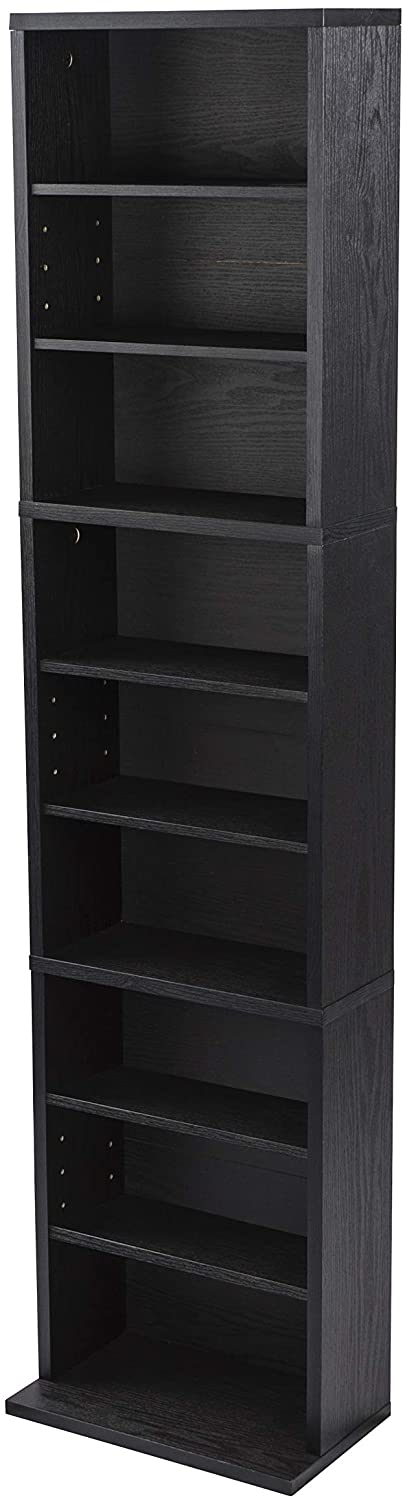 Atlantic Herrin Adjustable Media Cabinet, Textured Ebony – 74736250