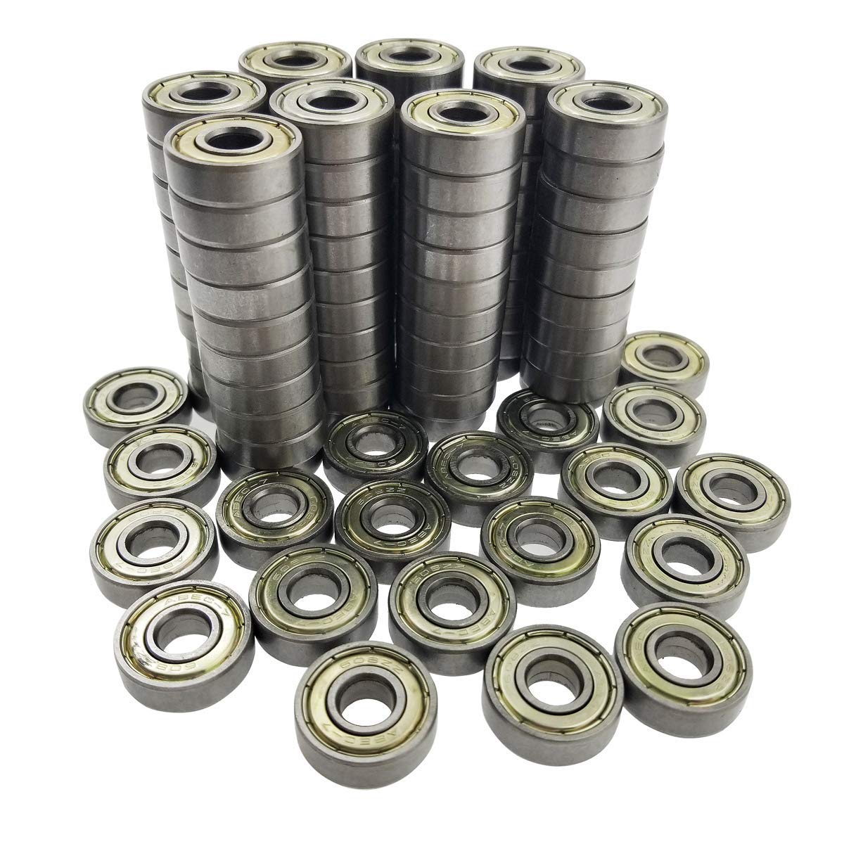ZooTek 100 PCS 608 ZZ Skateboard Bearings