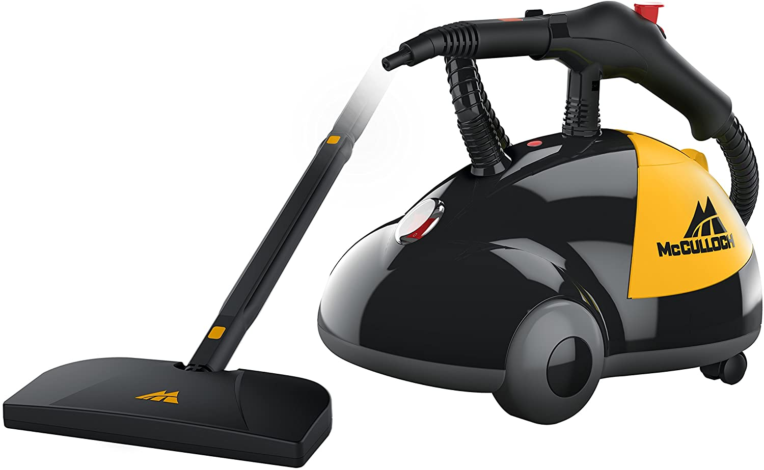 McCulloch MC1275 Heavy-Duty Steam Cleaner with 18 Accessories, Extra-Long Power Cord, Chemical-Free Pressurized Cleaning