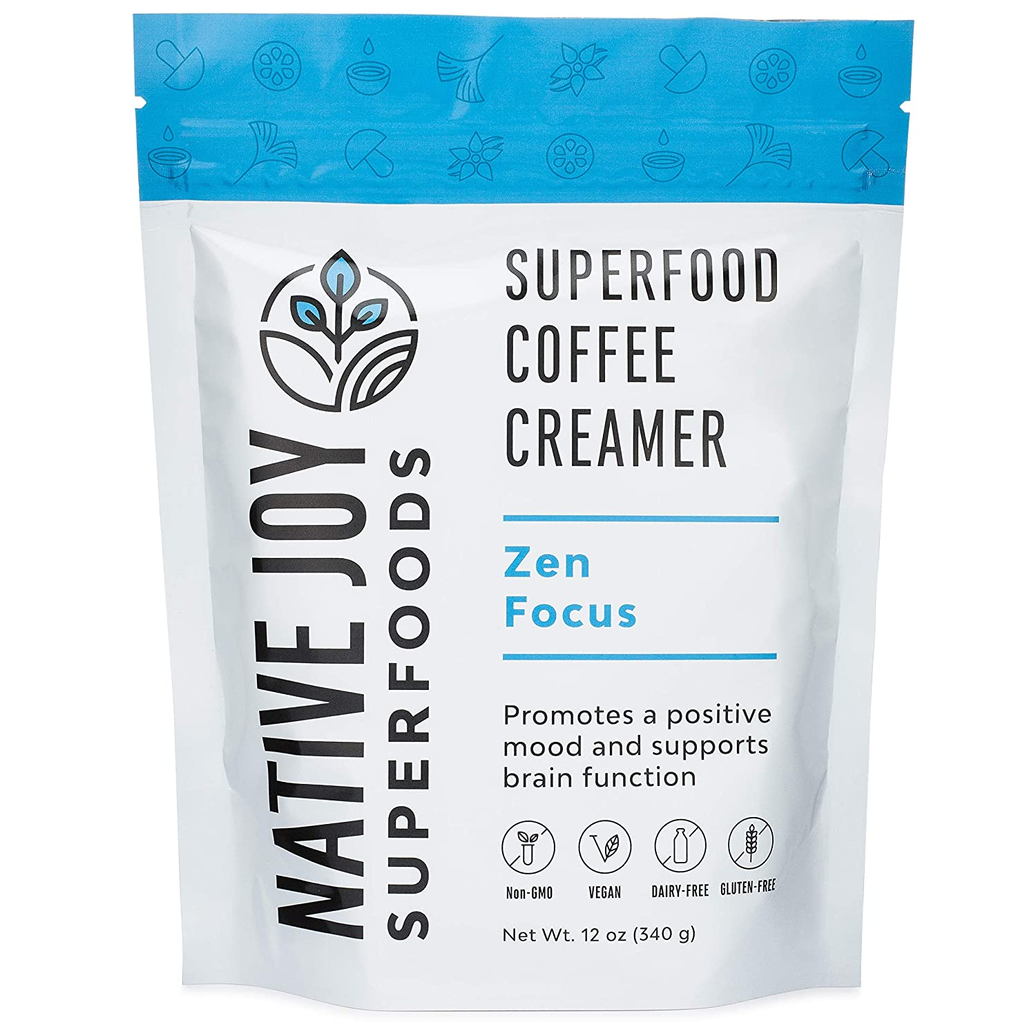 7. Native Joy Superfoods - Zen Focus Coffee Creamer