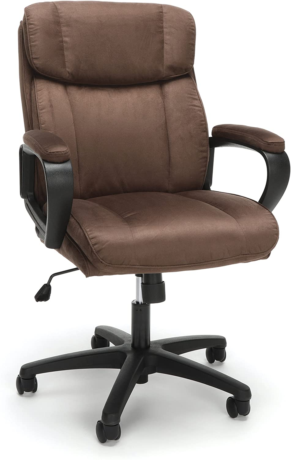 OFM Essentials Collection Plush Microfiber Office Chair, in Brown (ESS-3082-BRN)