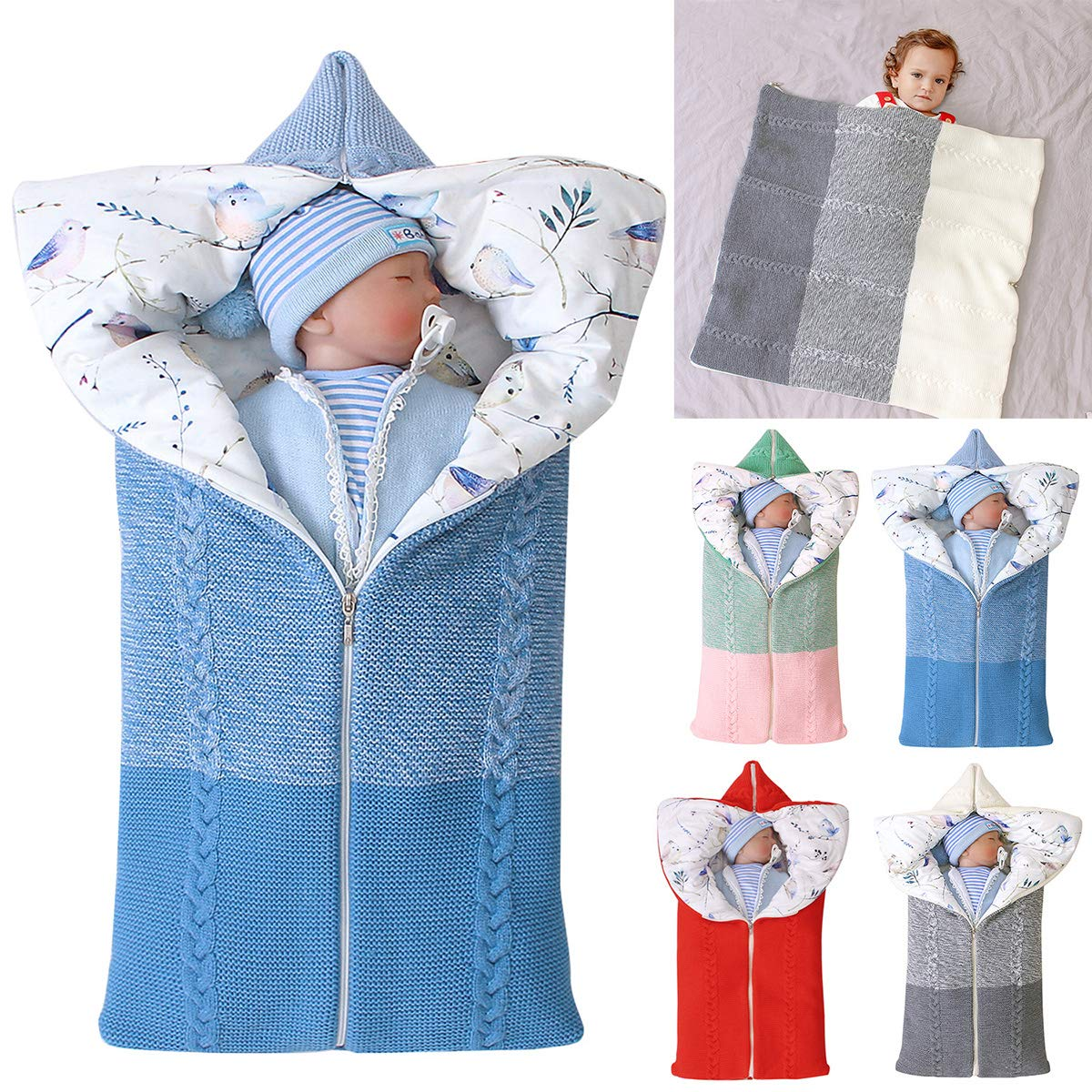 7 . Baby Swaddle Blanket Stroller Wrap,Soft Thick