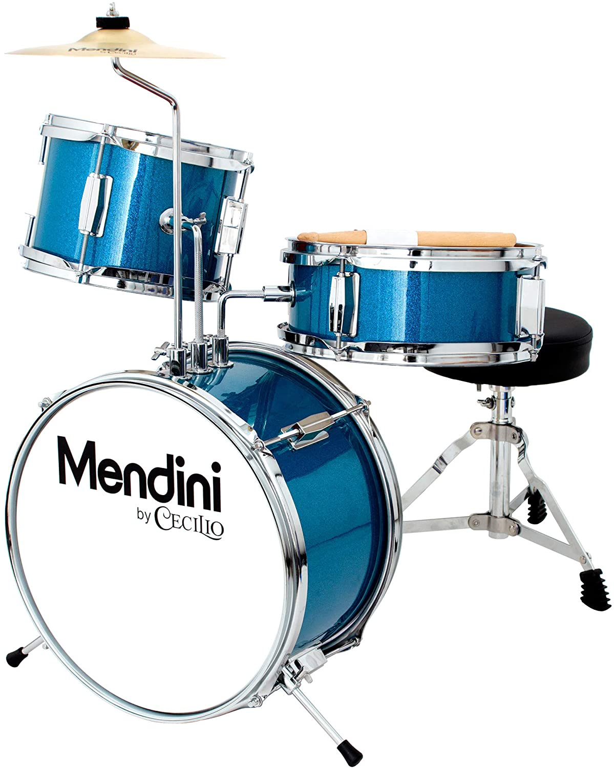 Mendini by Cecilio 13 inch 3-Piece Kids | Drums For Beginner
