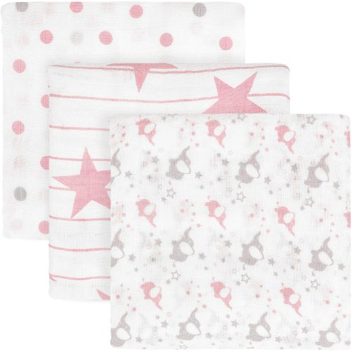 TILLYOU Muslin Swaddle Blankets Set for Girls