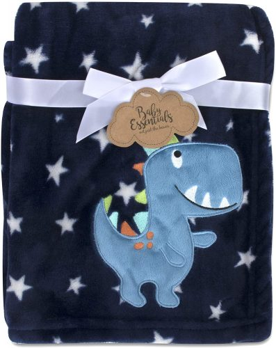 Baby Essentials Plush Fleece Throw and Receiving Baby Blankets