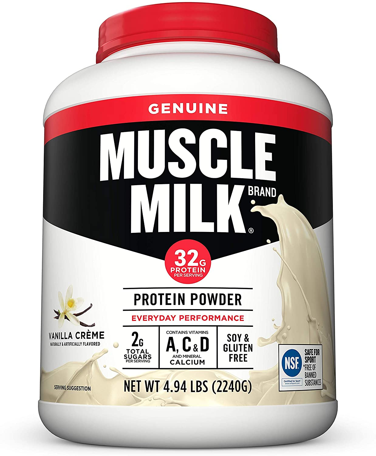 Muscle Milk Genuine Protein Powder, Vanilla Crème