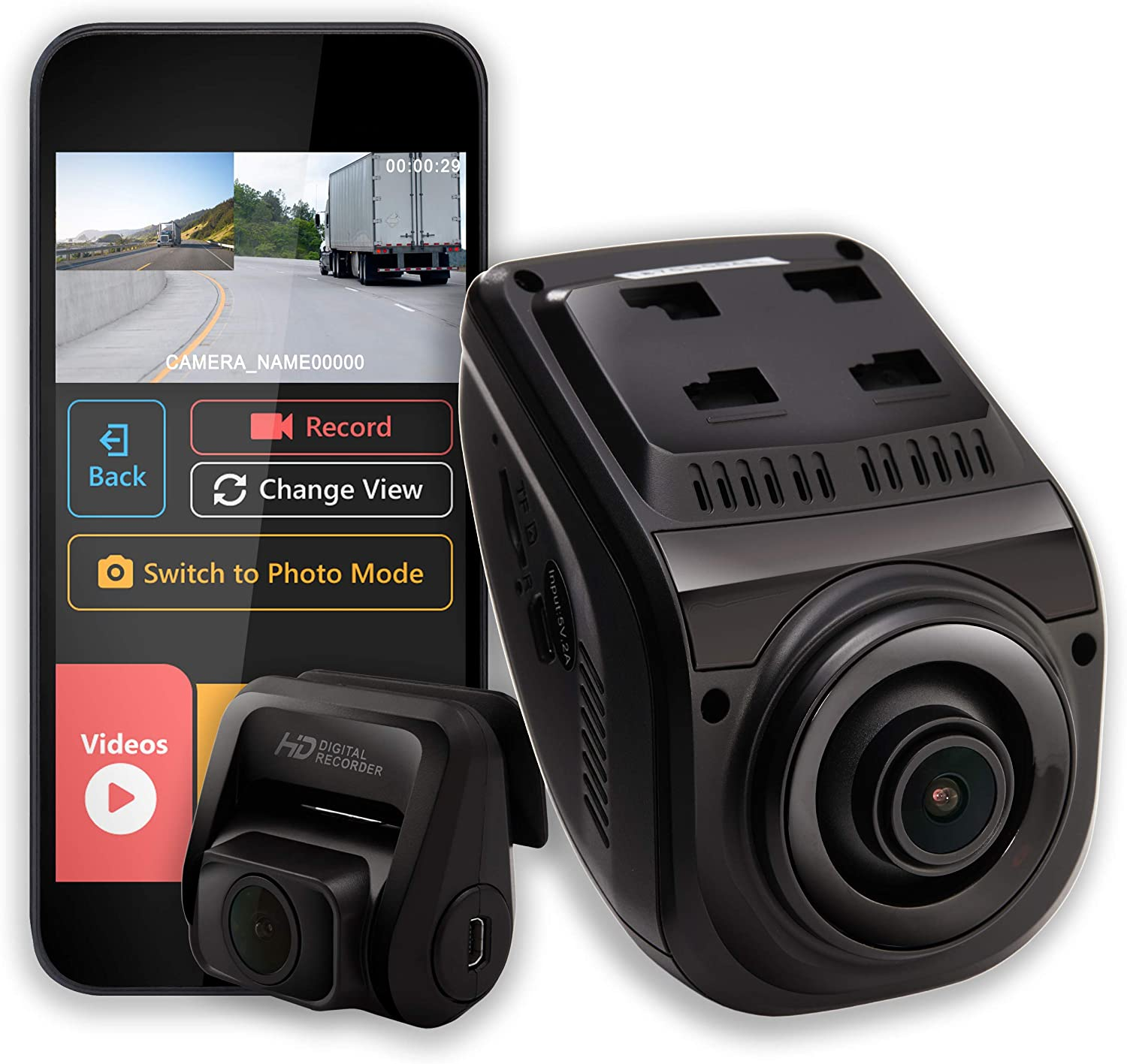 6. Rexing V1P 3rd Generation Dual 1080p Full HD Front and Rear