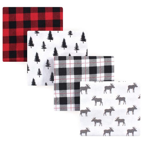 Hudson Baby Unisex Baby Cotton Flannel Receiving Blankets