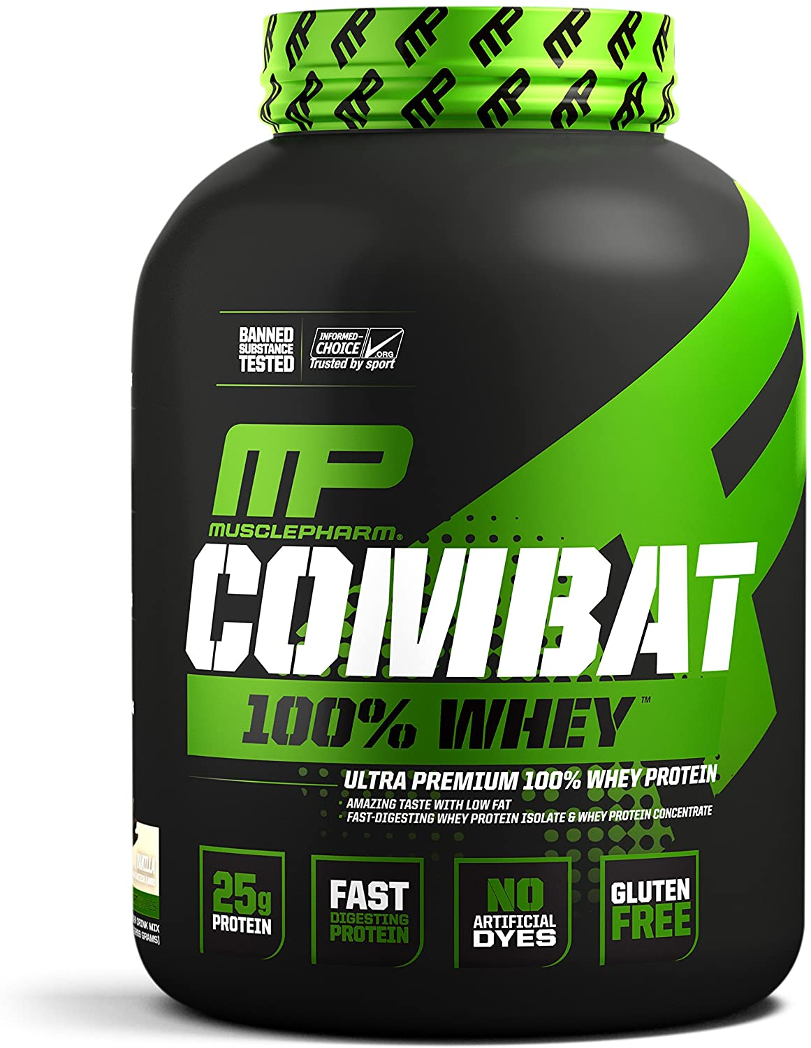 MusclePharm Combat 100% Whey, Muscle-Building