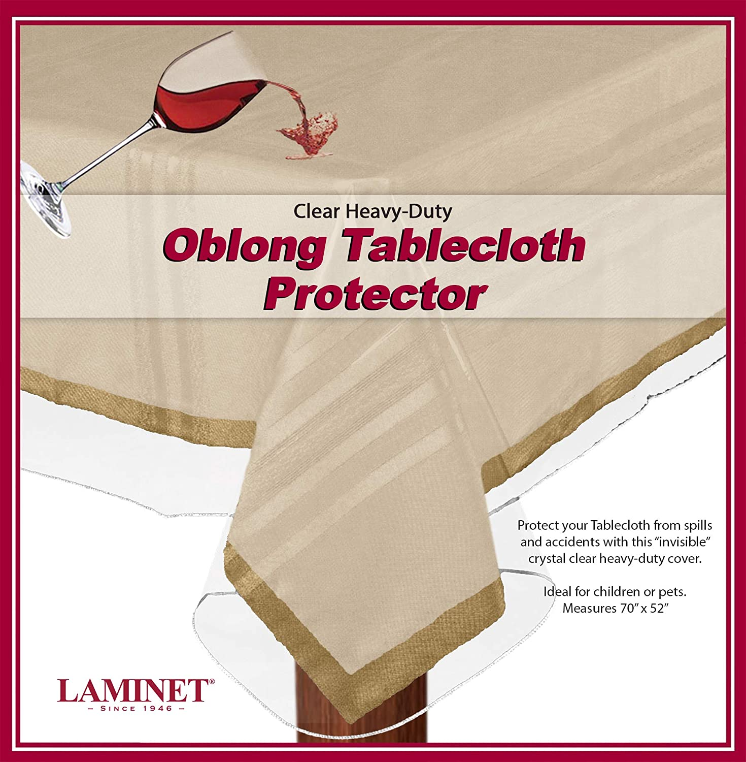 LAMINET Heavy-Duty Deluxe| Picnic Table Clothes