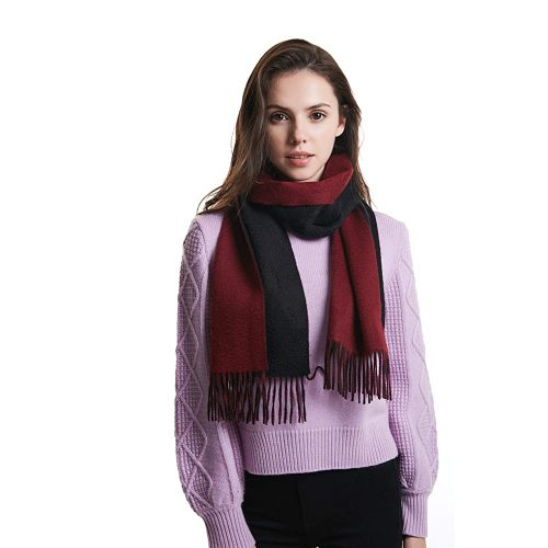 EURKEA 100% Cashmere Reversible Two Tone Colors Scarf