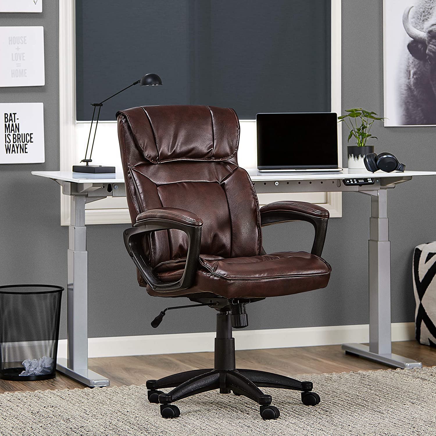 Serta Style Hannah I Office Chair, Bonded Leather, Biscuit