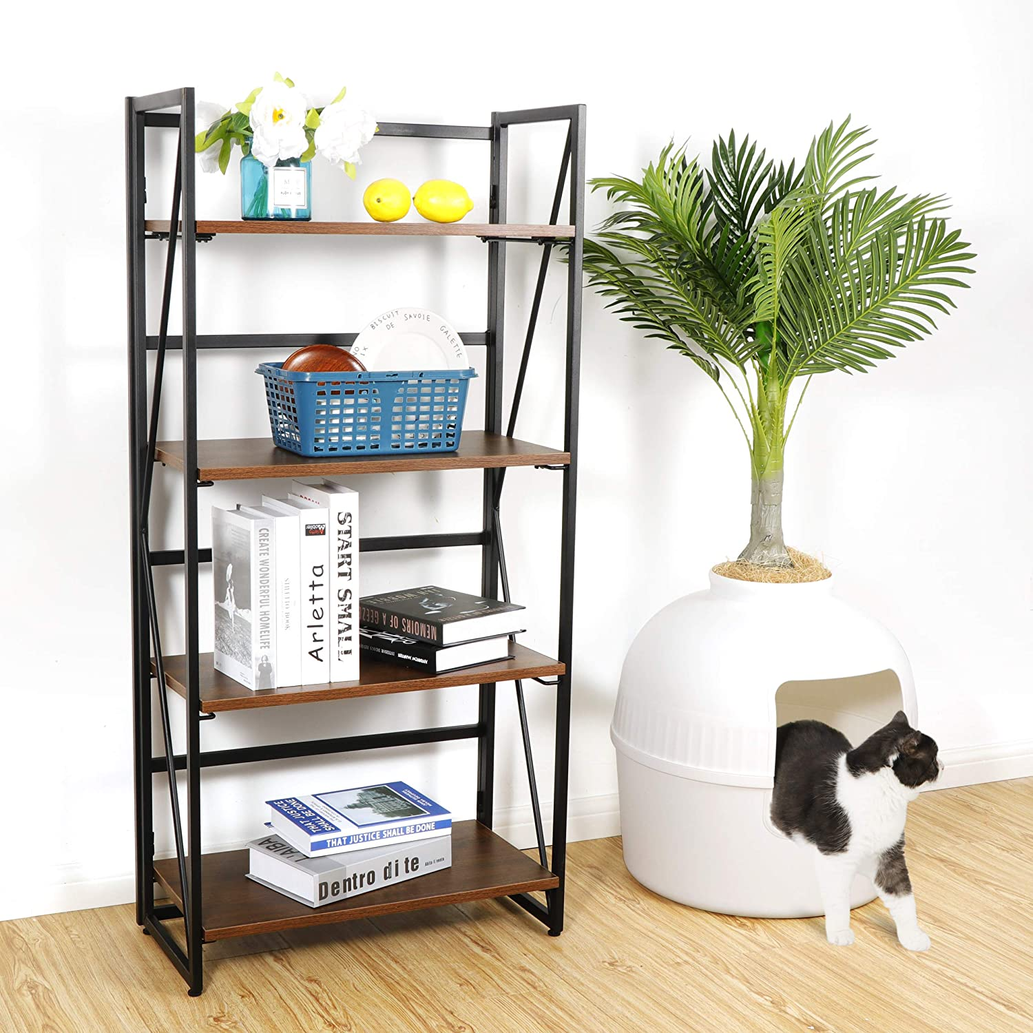 ZenStyle 4 Tiers No-Assembly Bookshelf