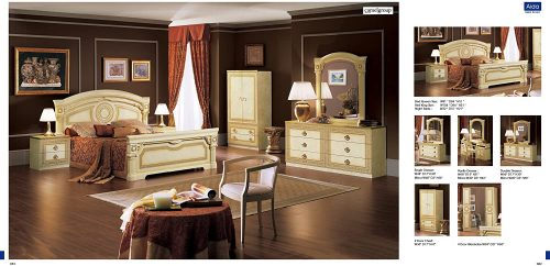 ESF Aida Traditional Ivory With Gold Accents Classic Italian