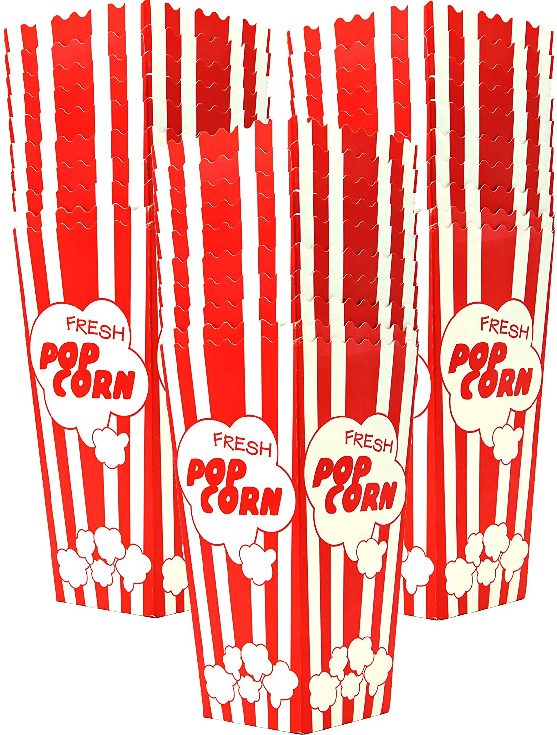 30 Popcorn Boxes 7.75 Inches Tall & Holds 46 Oz