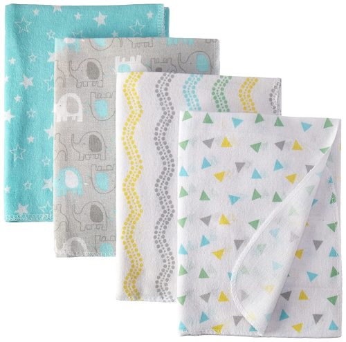 Luvable Friends Unisex Baby Cotton Flannel Receiving Blankets